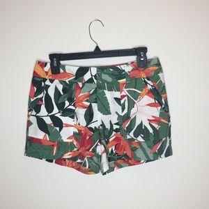 Womens 2 Banana Republic Tropical Floral Shorts